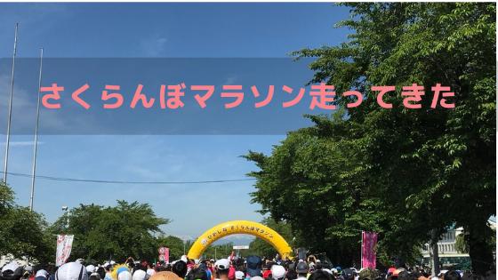 さくらんぼマラソンスタートの画像